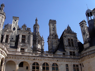 Les tourelles et clochetons du château de Chambord